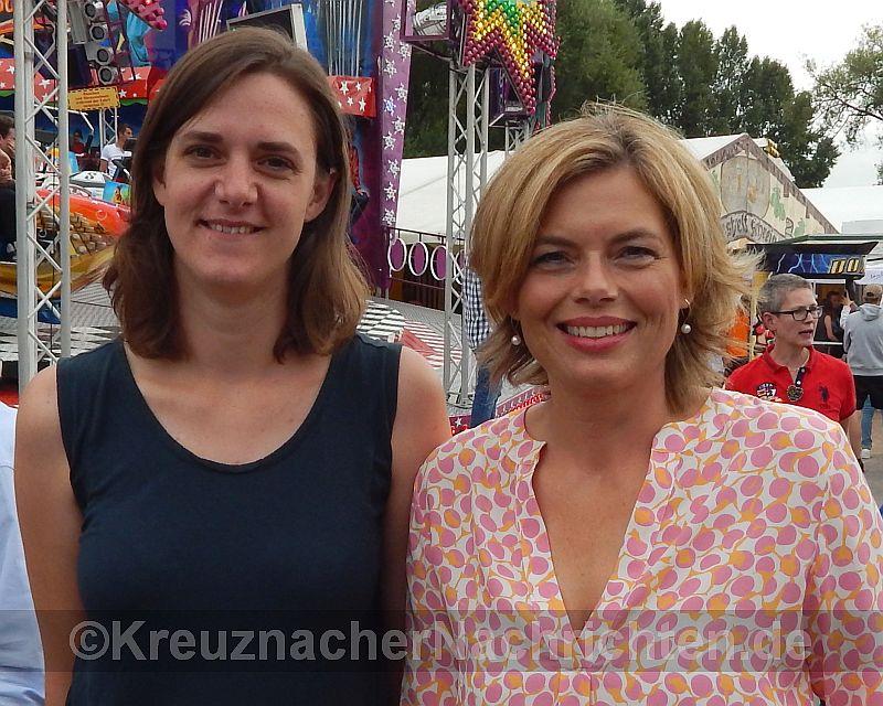 2016 - Ja-Eröffnung - Julia Klöckner und Mareike Duday Leiterin des Wahlkreisbüros