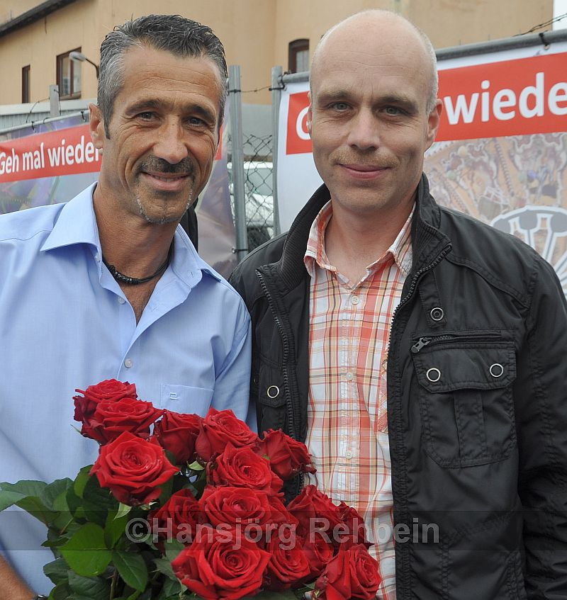 Markus Franz und sein Nachfolger Mathias Weyand bereiteten den Kreuznacher Jahrmarkt 2017 vor.