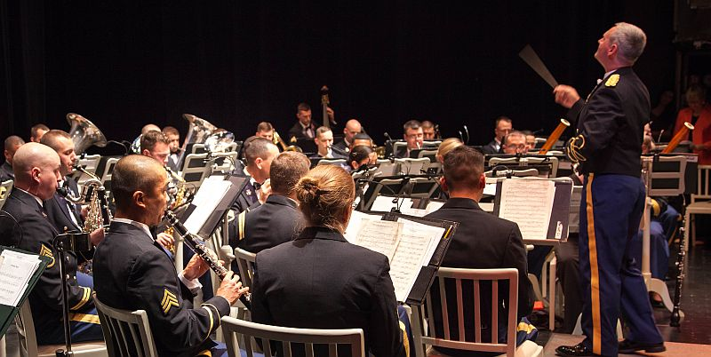 The USAREUR Army Band performs at the Schwetzingen Castle in Germany for the last time, 28 Oct 2012.