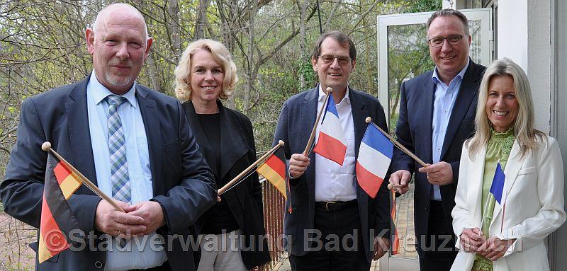 Von links: Matthias Heidenreich, Oberbürgermeisterin Dr. Heike Kaster-Meurer, Peter Scholten, Jens Treske und Christine Simmich