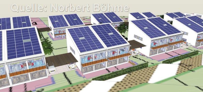 Entwurf SOLAR-CITY in den Weingärten