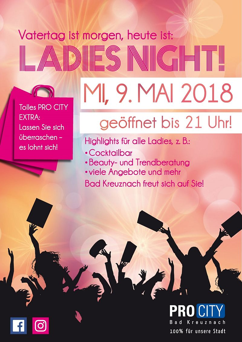 2018 Ladies Night Plakat